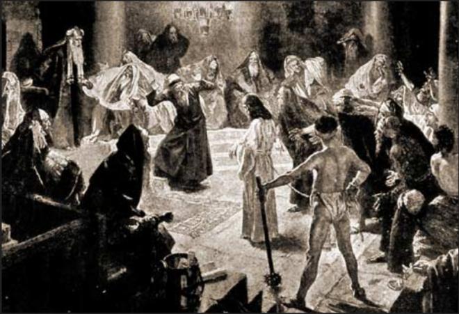 Jesus vor den Römern, die Handlanger der Juden