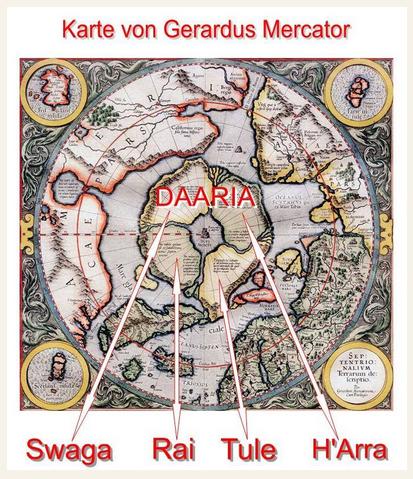 Karte von Gerardus Mercator