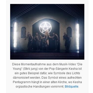 kesha pentagramm musikvideo