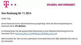 Rechnung-Spam-Telekom