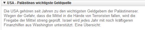 USAhilfe für Israel 1