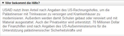 USAhilfe für Israel 3