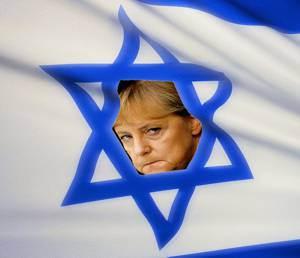 merkel_in_israelflagge