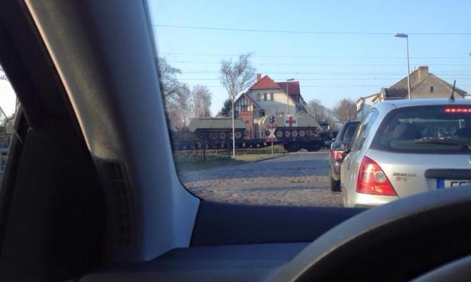 amerikanische Panzer Richtung Polen