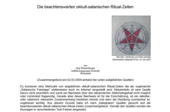 okkult satanische ritual zeiten 1