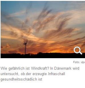 infraschall durch windräder- eine gesundheitsgefahr