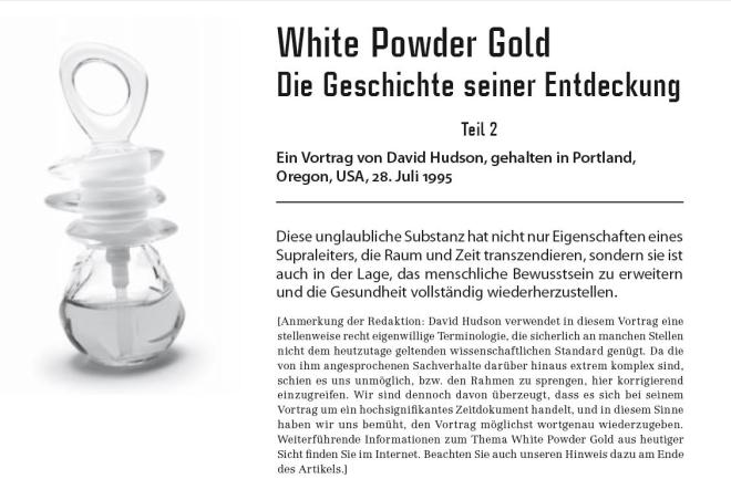 white powder gold 18