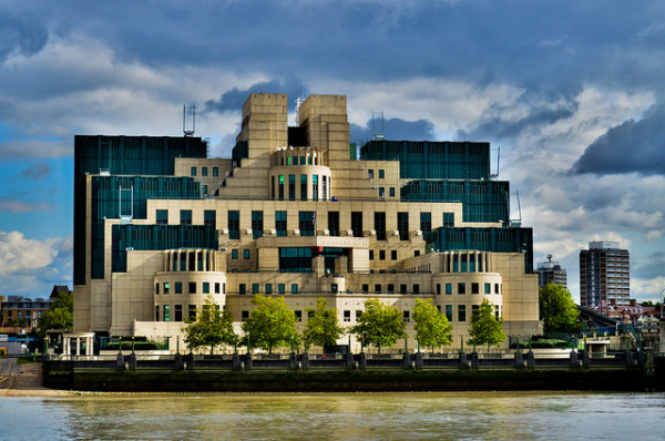 It's no secret that this is the headquarters of the British Secret Service.