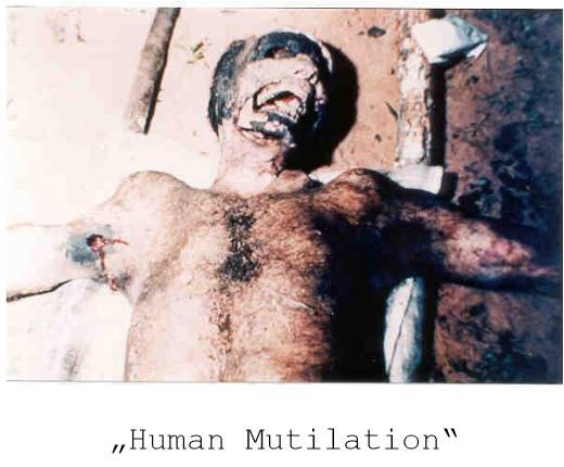 menschliche mutilation