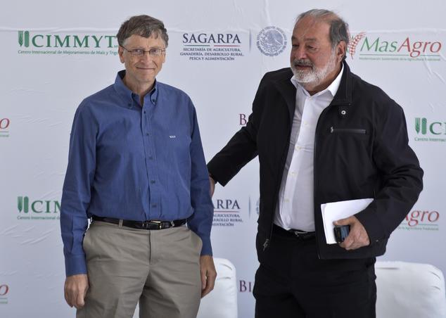 Bill Gates Carlos Slim