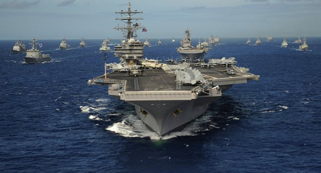 Flugzeugträger-2 und Flotte-USA