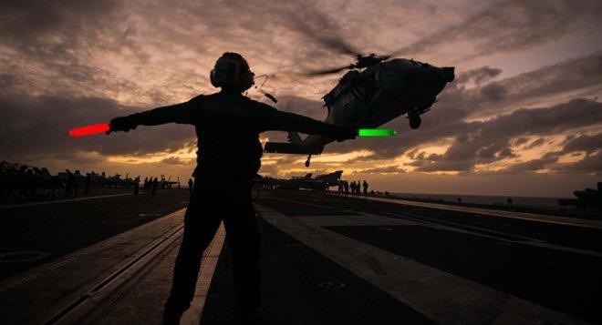 Hubschrauber-Landung