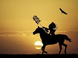 Sioux-Indianer proben den Aufstand